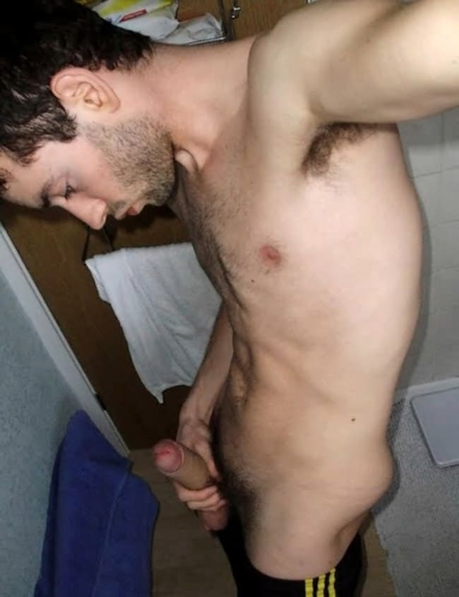 Hot Dude Holds Fat DIck