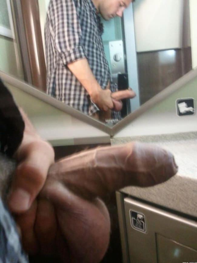nude men mirror images