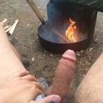 Dude Enjoys The Fire And His Dick