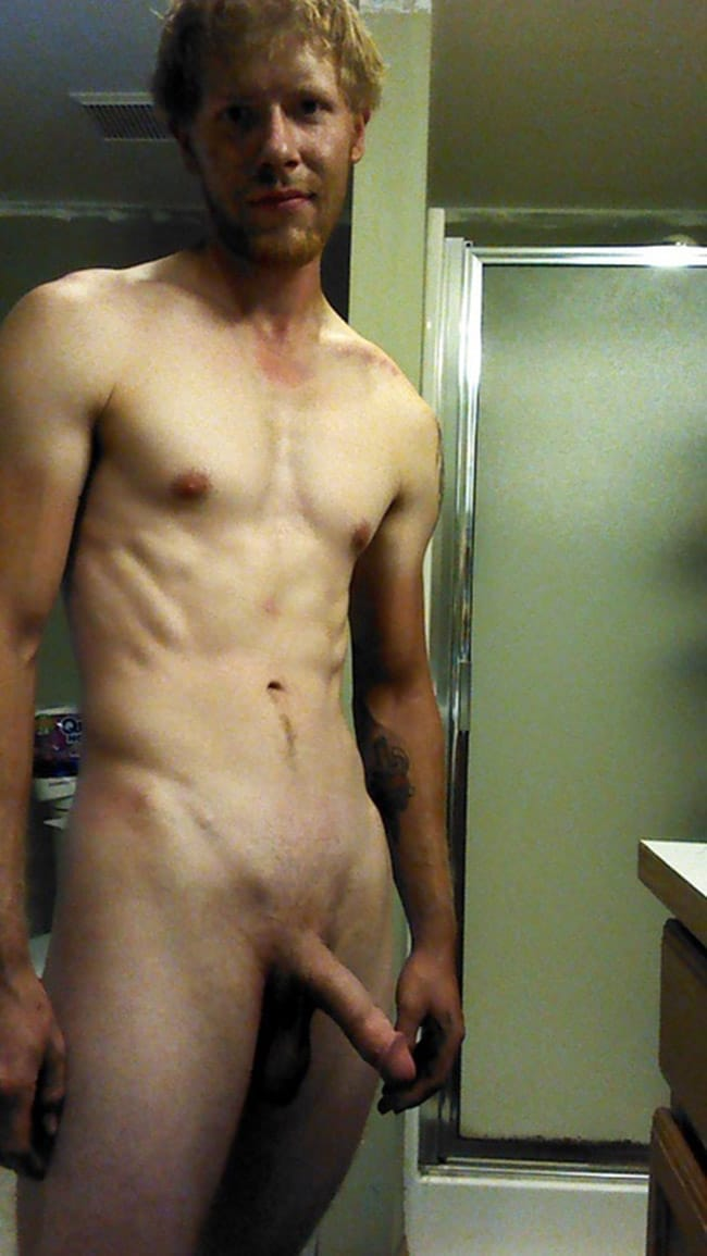 Nude Dude Tugs His Cock