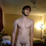 Bearded Guy Holds His Large Dick