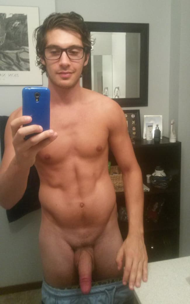 Hot naked guy mirror picture
