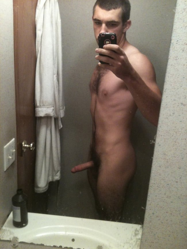 Nude Male's Erected Dick
