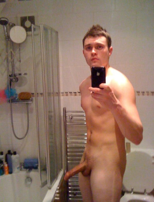 Hot Guy Shows His Erected Penis - Nude Men Pictures