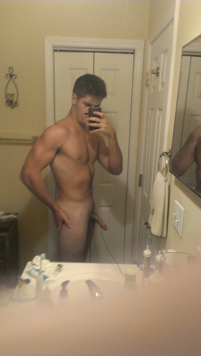 Sexy Dude Holding His Ass