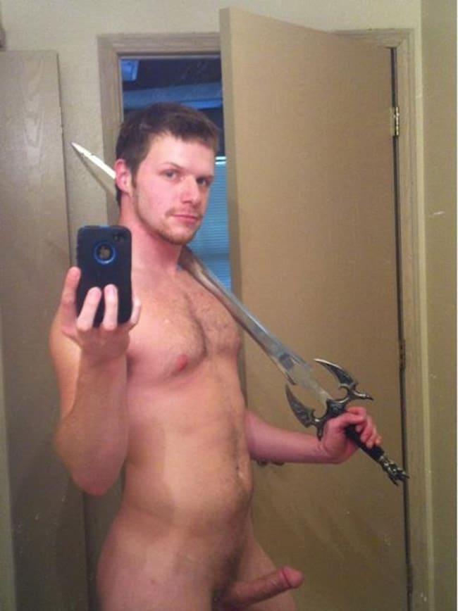 Strong Guy's Hot Sword